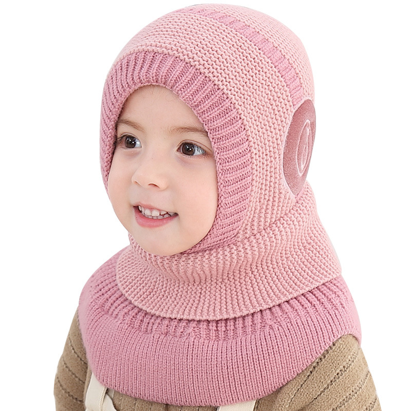 Kids Boy Girl Winter Warm Knitted Crochet Beanie Hat Face Mask Scarf Set Outdoor