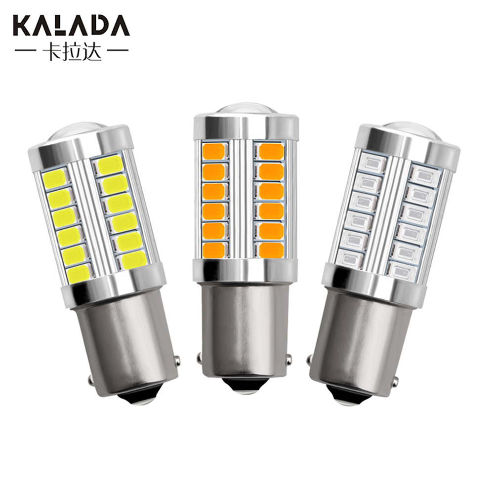 1pc Canbus No Error 1156 BA15S P21W 1157 P21/5W BAY15D Reverse Lights Car Led Light 3157 P27/7W Auto Brake Lamp 12V Vehicle Bulb