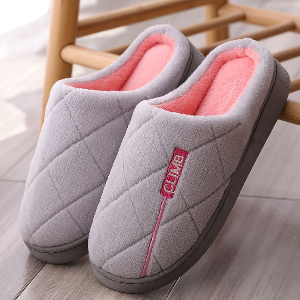 Men Non-slip Winter Women Slippers Home Shoes Male Comfort Floor Women Shoes Cotton Plush Ladies Indoor Slippers Pantuflas Mujer