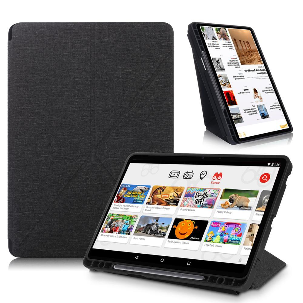 Чехол с держателем для карандашей для Samsung Galaxy Tab S7 Plus, умный чехол с подставкой для планшета, чехол для Galaxy Tab S7