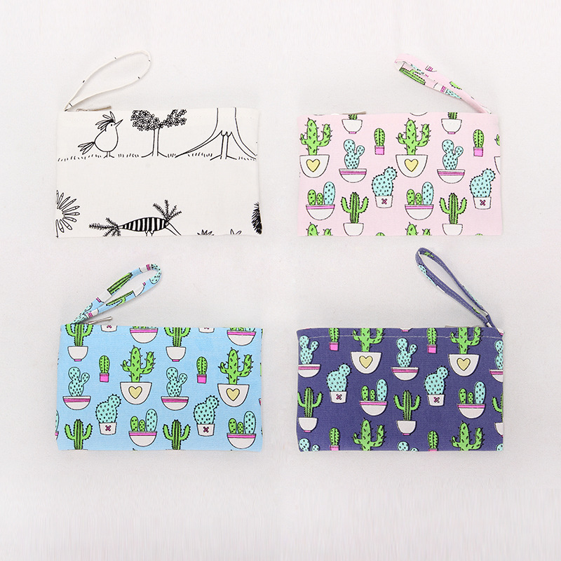 Q01 Low Price Purse Women's Fabric Creative Wallet Key Mobile Phone Bag Coin Bag Women's