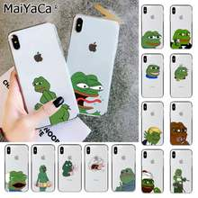 MaiYaCa Sad Frog pepe meme Soft Transparent TPU Phone Case for iPhone 11 pro XS MAX 8 7 6 6S Plus X 5 5S SE XR cover(China)