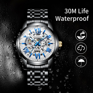 Image 3 - Lavaredo, reloj mecánico automático de lujo para hombre, reloj de pulsera de acero inoxidable de negocios de primera marca A5