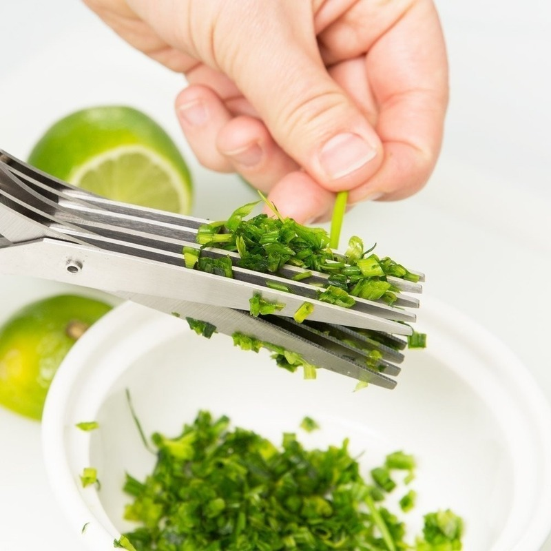 15CM Minced 5 Blades Stainless Steel Kitchen Scissors Herb Cutter Shredded Rosemary Scallion Cutter Herb Chopped Tool Cut 2020|Kitchen Knives|   - AliExpress