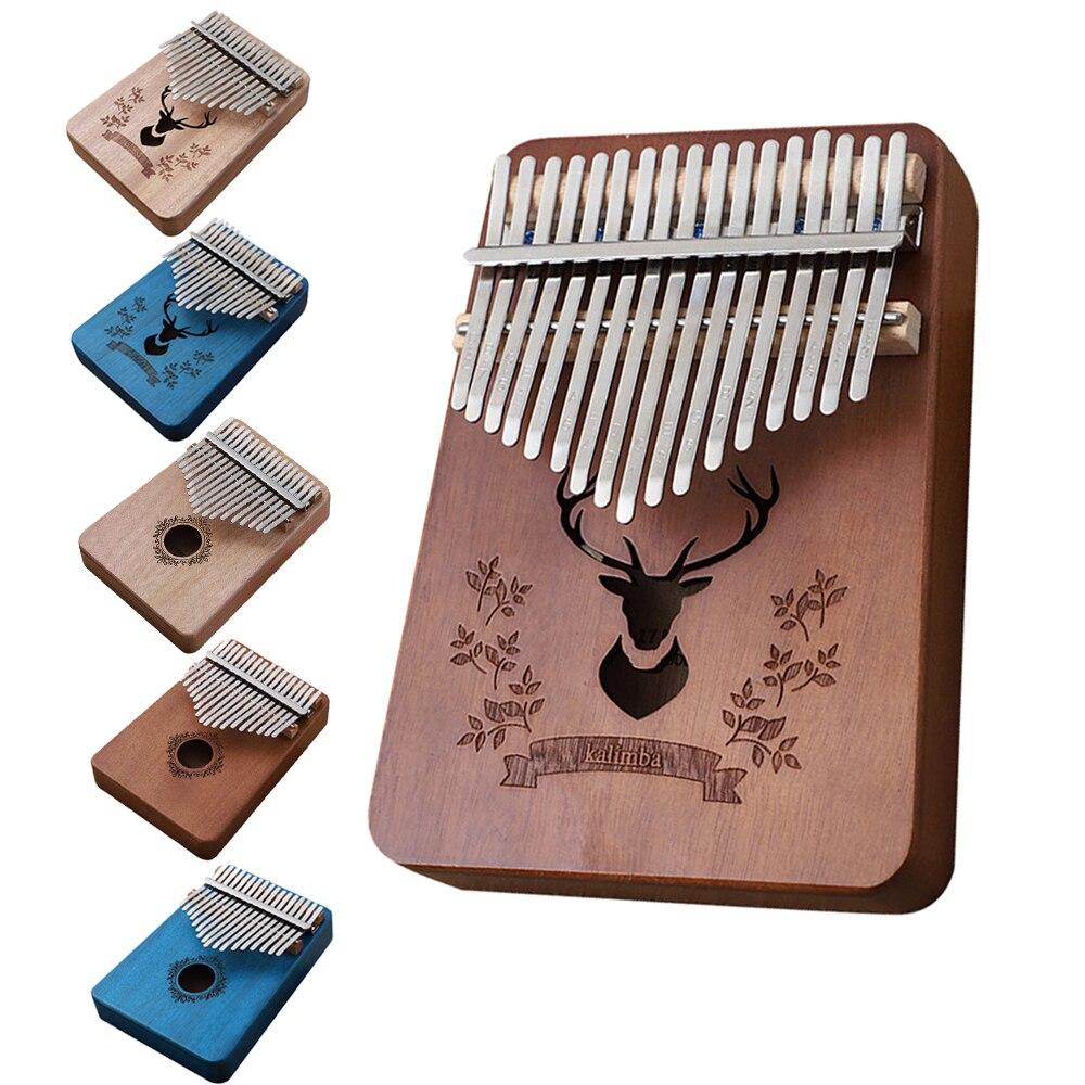 17 клавиш калимба Африканский палец пианино дерево калимба портативный музыкальный инструмент калимба большой палец пианино тело музыкаль...