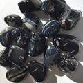 Натуральный черный Агат Камень Полированный Камень Коллекционные вещи грубый камень минеральный с лечебным действием, образцы декоративн...