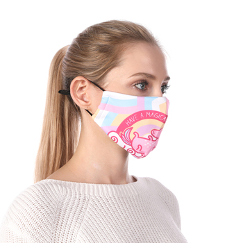 Pink Unicorn Printing Reusable Protective PM2.5 Filter Mouth Mask Anti Dust Mask Windproof Adjustable Face Masks Face Masks