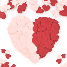 15g Heart shaped confetti wedding confetti hand sprinkle small pieces cake decoration купить недорого в Москве