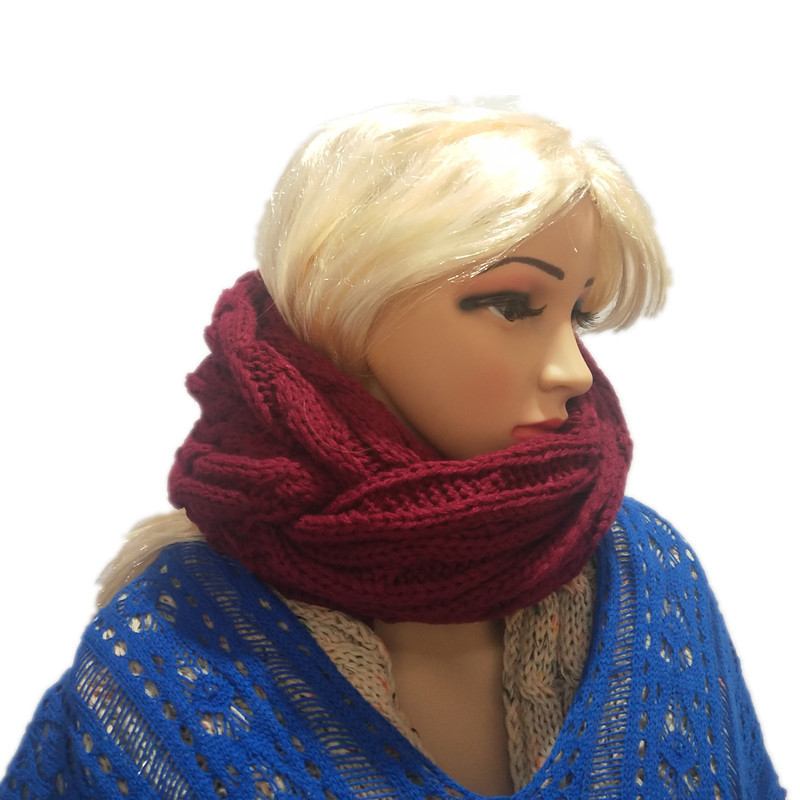 2018 Autumn And Winter Warm Yarn Knitted Scarf Hot Sales Bandana For Both Men And Women Scarf