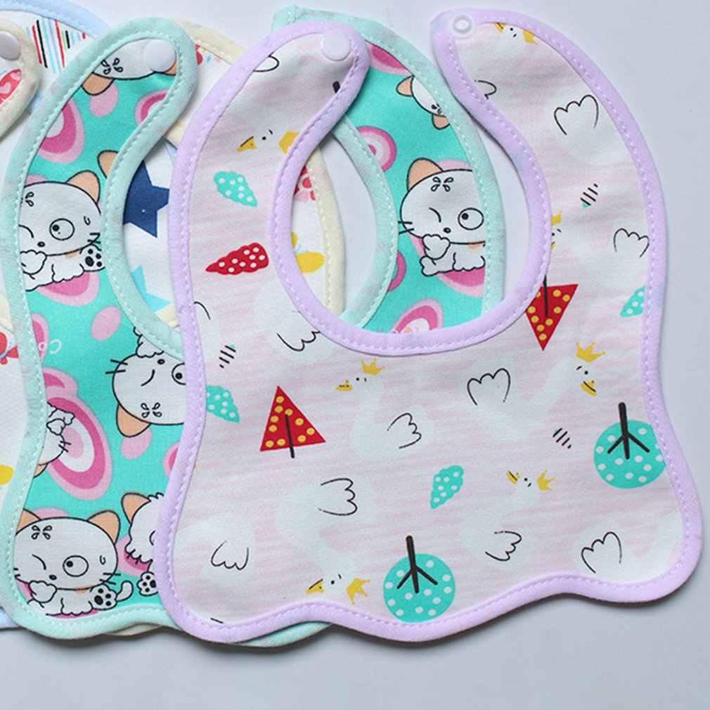 תינוקות ביב קריקטורה הדפסת כותנה הצמד-על עמיד למים אנטי מלוכלך תינוק סינר ילדי הדפסת רוק מגבת