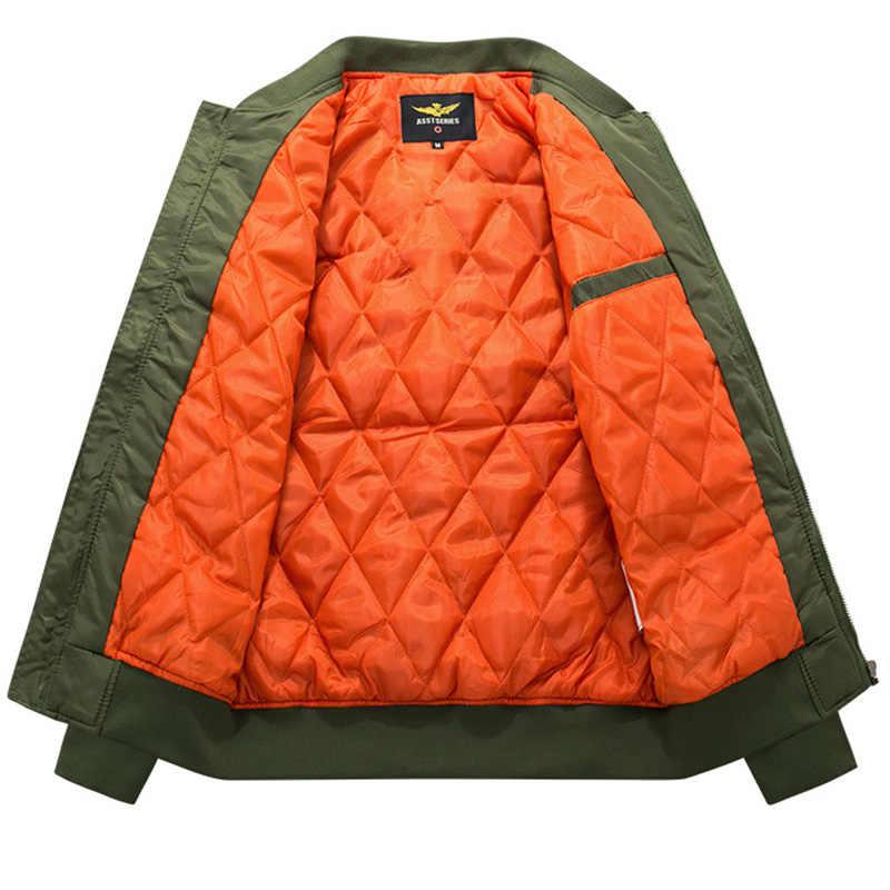 เสื้อ Winter Mens 2019 แฟชั่นเสื้อโค้ท Parkas ขาตั้งใหม่มาถึงเสื้อแจ็คเก็ตซิปเบสบอล Plus ขนาด