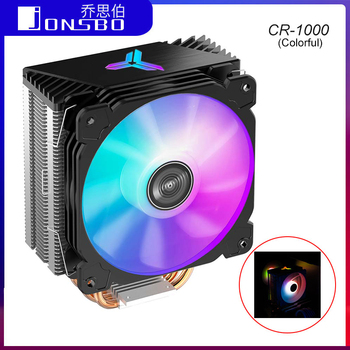 Jonsbo LED CPU Cooler Fan CR1000 Tower 4 Heatpipes PWM 4Pin Cooling Heat Sink for Intel LGA 775/1150/1151/1155 for AMD AM4/AM3+ lga 2011 cpu cooler high quality 6 heat pipes dual tower cooling heat sink 4pin pwm cpu fans for 1150 1155 1156 775 am3 am4 1366