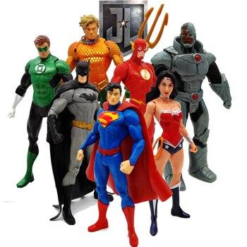 17cm justice league Super Hero Super Man Batman Flash Wonder Woman Action Figures Toys Collectible PVC Model Toy Christmas Gift цена 2017