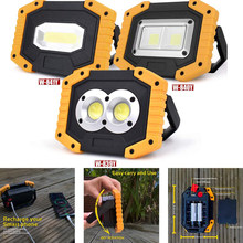 100W 20000LM Led Portable Spotlight COB Super Bright Led Work Light Flood Lights Rechargeable for Outdoor Lampe 18650 Emergency