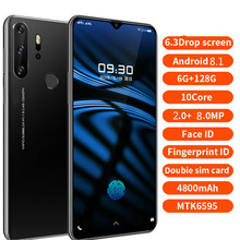 Smartphone אנדרואיד 4G X23 טלפונים סלולריים הגלובלי גרסת 6.3 אינץ הכפול סים גלובלי גרסת סמארטפון נייד טלפון מים זרוק מסך