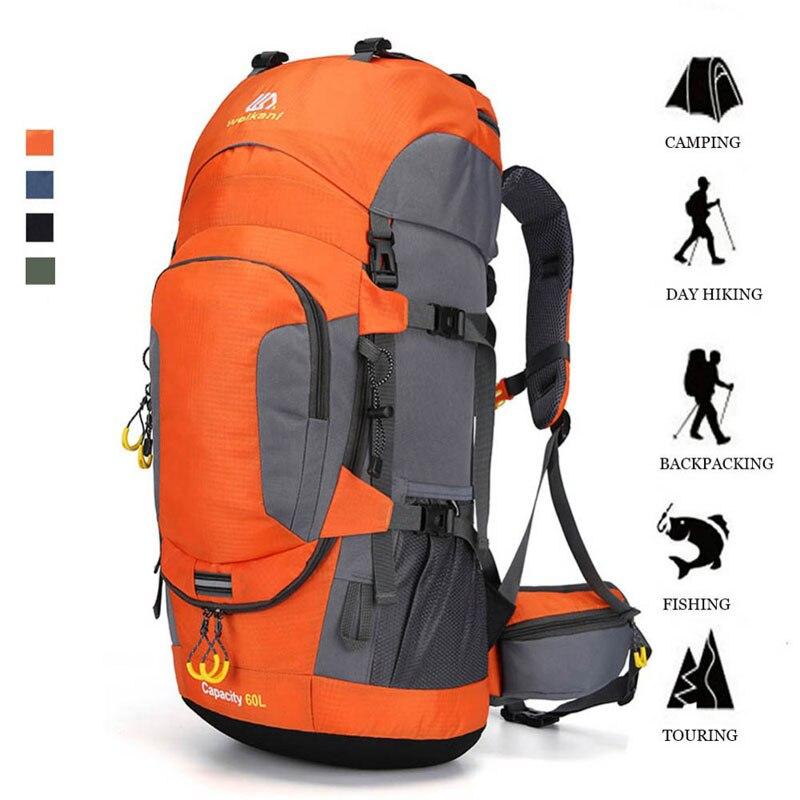 KOKOCAT nouveau 60L randonnée sac à dos sport sac à dos en plein air sac d'alpinisme avec couverture de pluie sac à dos de voyage