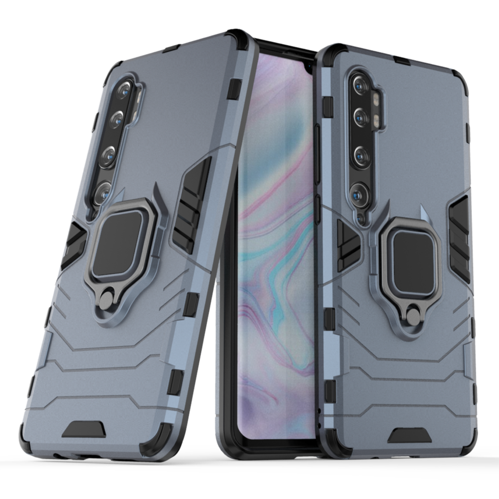 Armor Case For Xiaomi Mi Note 10 Case Protective Bumper Finger Ring Holder Soft Silicone Back Cover Xiaomi Mi Note 10 Pro Cases|Fitted Cases| |  - title=
