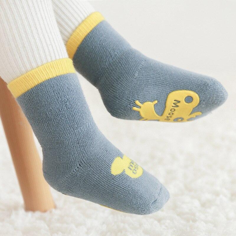 Купить 3 пары хлопковые толстые детские нескользящие носки для мальчиков