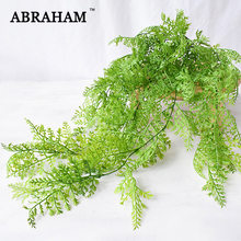 80cm Artificial Fern Decoration Vine Plastic Plant Hanging Green Leaf Rattan Fake Vivid Vine Foliage Wall Garland for Home Decor(China)