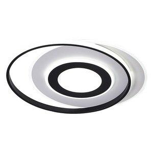 Image 5 - LedLamp rodada lustre lustres Iluminação Lustre Moderno Preto e Branco para Sala de estar Quarto Cozinha lâmpada do teto Lustre