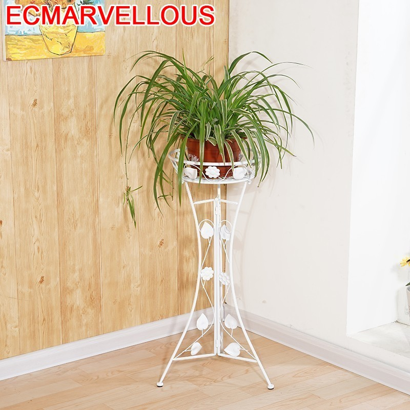 Standaard Metal Decoration Terrasse Varanda Support Pour Plante Saksisi Dekoru Balcony Balkon Stand Flower Shelf Plant Rack