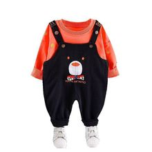 цена на New Spring Autumn Children Clothes Suit Baby Boys Girl Cartoon T Shirt Overalls 2Pcs/set Toddler Casual Clothing Kids Tracksuits