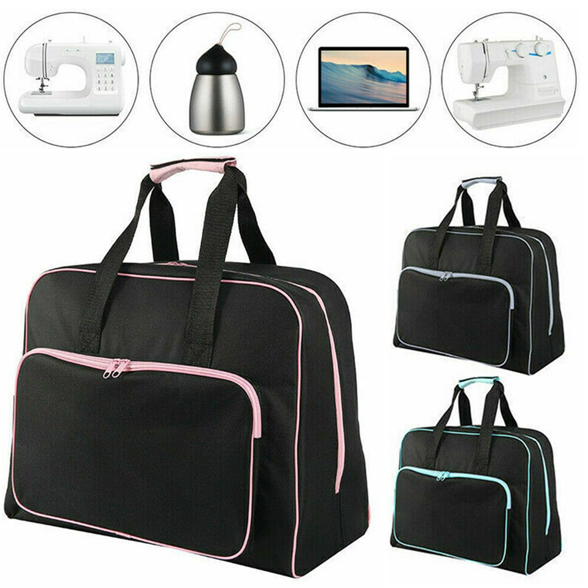 Unisex Large Capacity Sewing Machine Bag Travel Portable Storage Bag Waterproof Tote Bags Multifunctional Sewing Tools HandBag