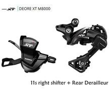 Shimano DRORE XT M8000 11 Speed Trigger Shifter + 11 Speed Rear Derailleurs MTB SL-M8000 RD-M8000 GS/SGS shimano x t r sl m9000 thumb shifter left