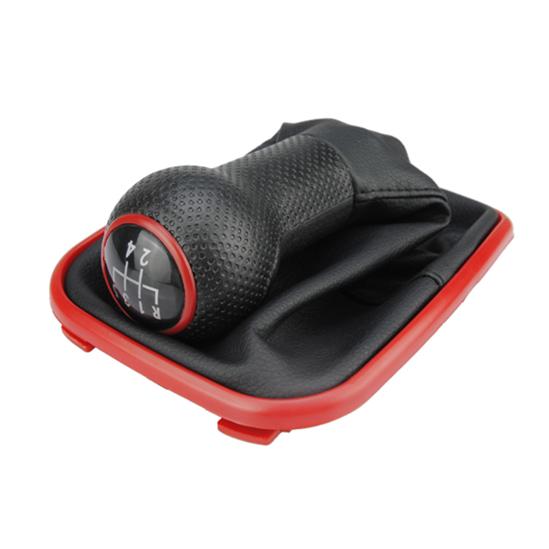 5 Speed Car Manual <font><b>Gear</b></font> <font><b>Shift</b></font> Head <font><b>Knob</b></font> Lever Shifter Leather Gaiter Boot Dust Cover Case For <font><b>VW</b></font> Bora <font><b>Golf</b></font> 4 1999-2005 image