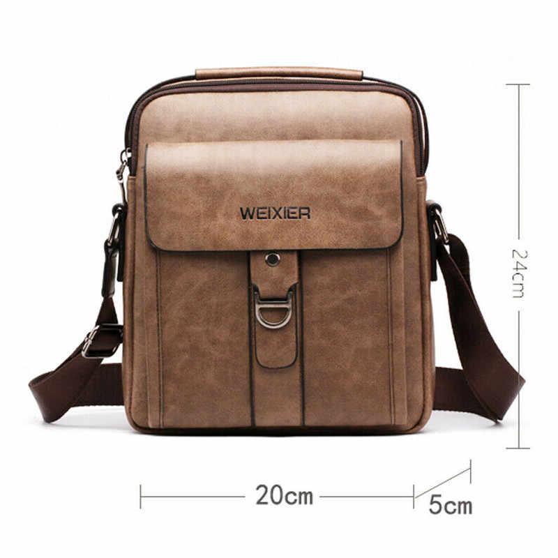 Mode Nieuwe Man Schouder Aktetassen Tassen Zakelijke Tas Pu Lederen Sport Toevallige Messenger Bags Multi-Pocket Handtas
