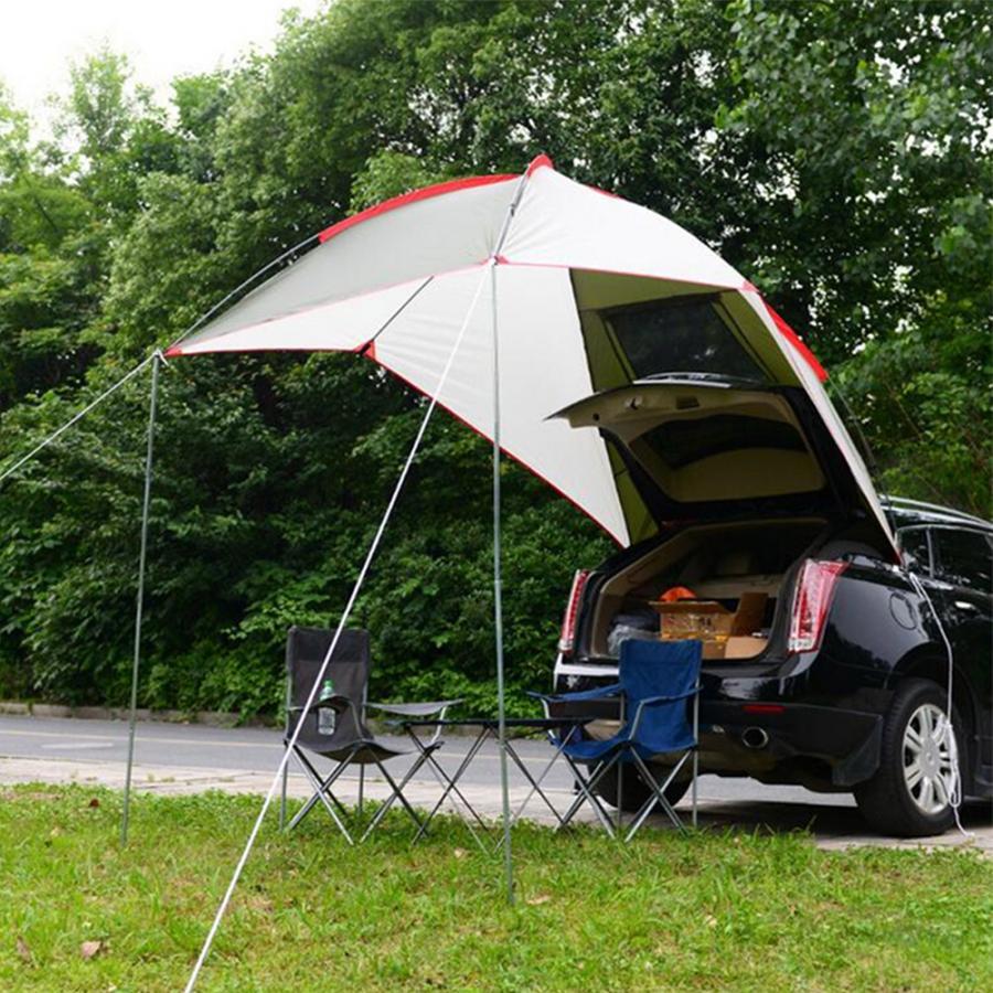 2831.52руб. 5% СКИДКА|Открытый кемпинг автомобиль хвост палатка водонепроницаемый портативный палатка для рыбалки Кемпинг Skylight навес тент защитный тент|Палатки| |  - AliExpress