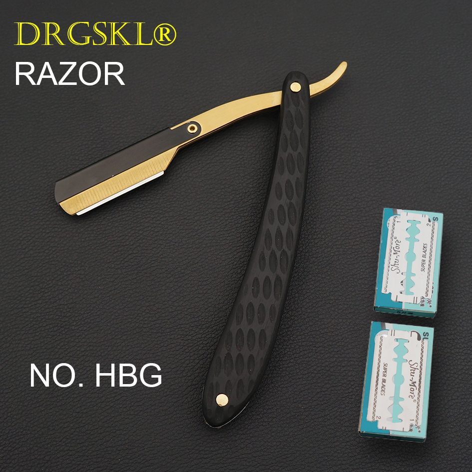 DRGSKL Men's Manual Shaving Razors Classic Blackwooden Handle Barber Shaver Hairdresser Razor Change Blade Type Rzaor NO.HBG