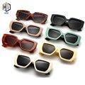 2020 винтажные модные квадратные солнцезащитные очки для женщин и мужчин известный роскошный бренд дизайнерский большая оправа градиентные ...