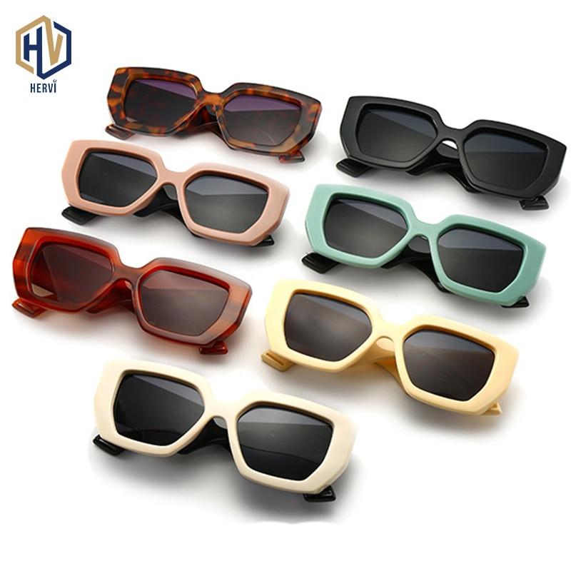 2020 moda do vintage quadrado óculos de sol das mulheres dos homens famosa marca de luxo designer grande quadro gradiente óculos de sol para o sexo feminino uv400|Óculos de sol|   -
