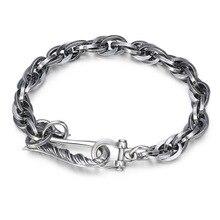 цена 925 Sterling Silver Women Men Bracelet Jewelry Eagle Hook Black LOVE Bracelet Bangle онлайн в 2017 году