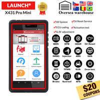 LAUNCH X431 Pro Mini sistema completo de coche herramienta de diagnóstico automotriz Wifi Bluetooth OBD2 escáner 2 años de actualización gratuita PK Diagun IV