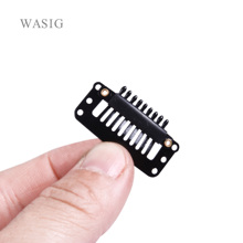 Clips Hair-Extension-Clips Wig Snap 32mm Metal with Silicone-Back for Hot50pcs 9-Teeth