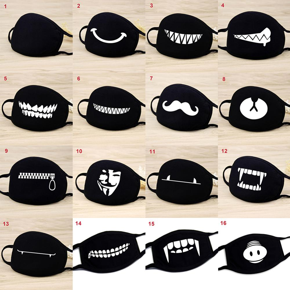 Pattern Mask Cotton Face Mask Washable Reusable Anti-Dust Mask, Black Unisex Face Mask