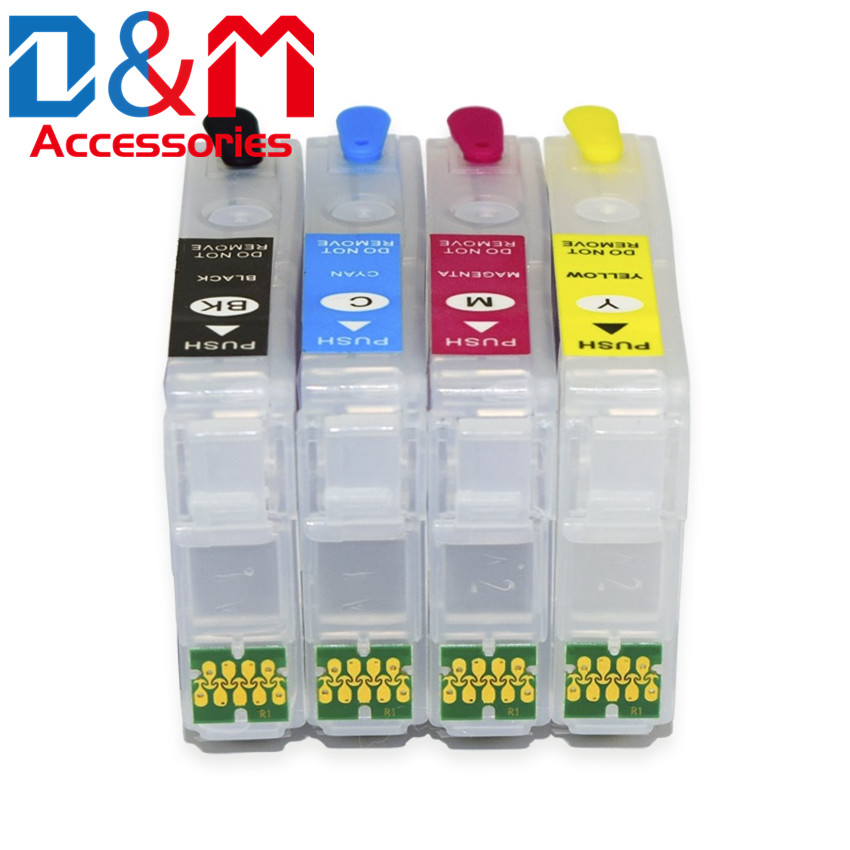 4Pcs Refillable Ink Cartridge W ARC Chip Europe T603A1 603XL 603 For Epson XP2100 2105 3100 3105 4100 4105 WF2810 2830 2835 2850