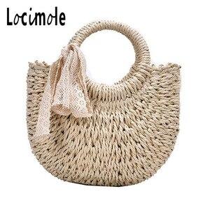 Locimole Women Tote Bag Fashion Bottega Veneta Ladies Woven Bags Casual Half Moon Shoulder Bag Handbags BIZ175 PM49(China)