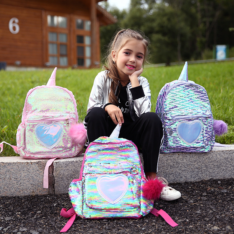 Unicorn Sequins Backpack Girls School Bags Kids Bagpack Mini Backpack Women Schoolbags Cute Back Pack Girl Mochila Escolar Mujer