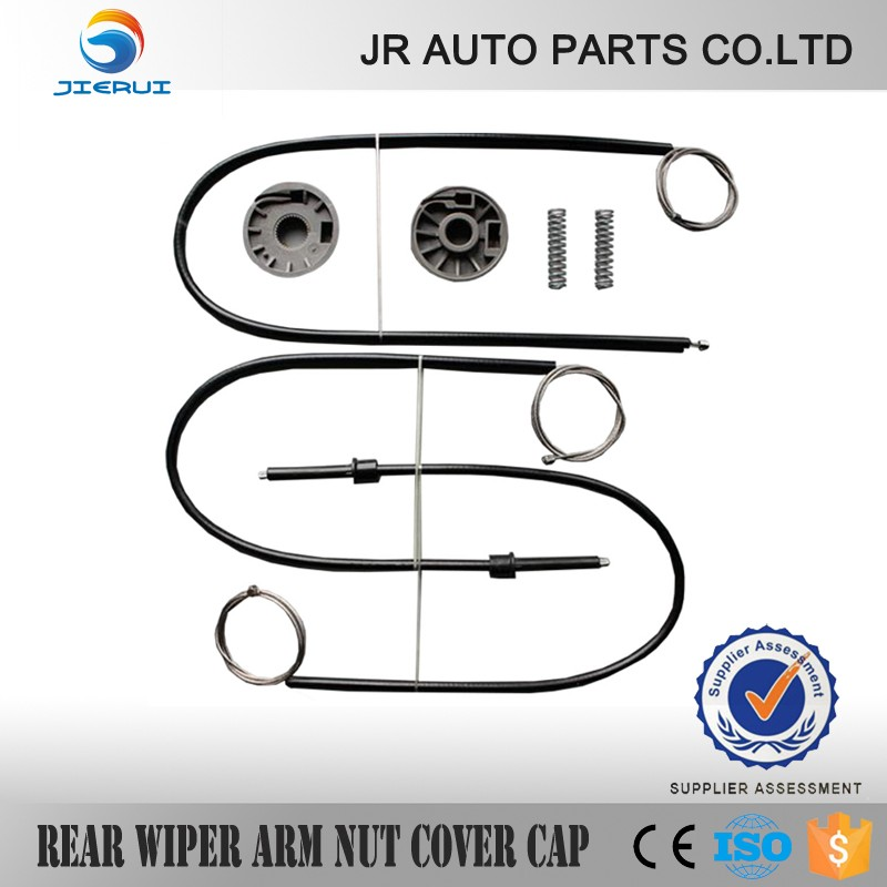 Auto Window Regulator Repair Kit For Smart Roadster 2003-2005 Front Right + LEFT Side 2 Set Cable + Roller And Springs