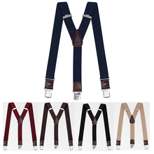 2021 Brand New High Quality Y Shape British Style Suspenders for Men 3 Clips Pants Braces Adjustable Elasticated Straps
