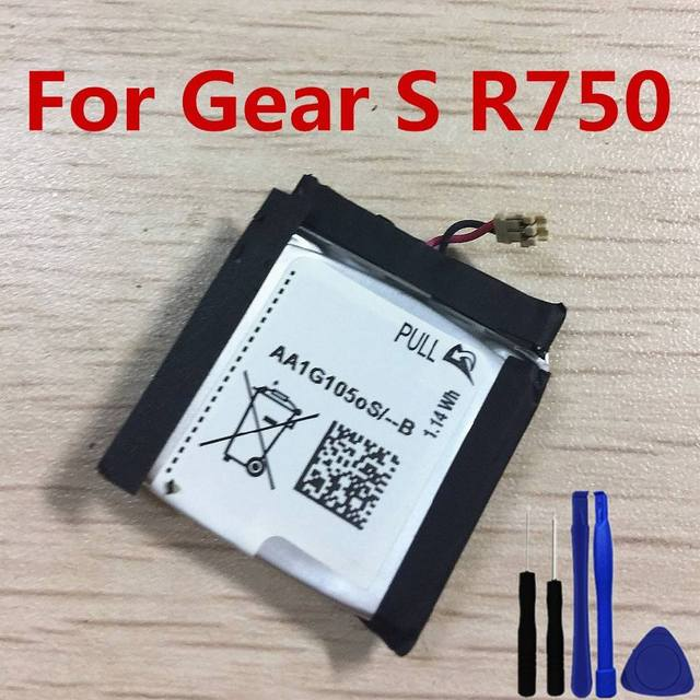 New High Quality Gear S R750 300mAh Battery For Samsung Gear S SM R750 R750 Battery + Tools
