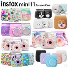 Cover Camera-Case Carry-Bag Protective Shoulder-Strap Instant-Film Soft Mini 11 New PU