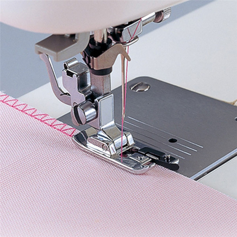 Durable Overlock Overedge Overcasting Sewing Machine Presser Domestic Rolled Seam Hem Foot Tool Sewing Equipment
