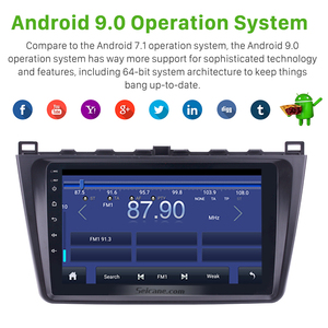 Image 5 - Seicane 9 Inch 2DIN WIFI Bluetooth WIFI GPS Navigation Car Radio Android 9.0  Multimedia Player For 2008 2015 Mazda 6 Rui wing