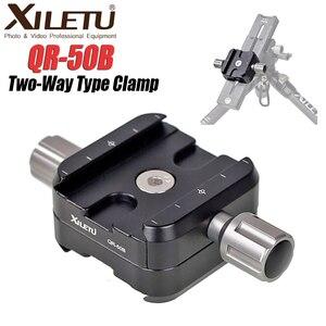 Image 5 - Xiletu braçadeira de tripé de liga de alumínio, braçadeira de placa de liberação rápida de dois sentidos, para arca swiss QR 50B