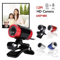 camera computer Newest Webcam USB 12 Megapixel High Definition Camera Web Cam 360 Degree Clip-on For Skype Computer desktop (3)