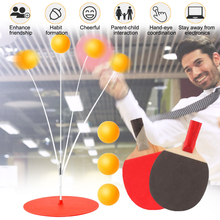 Portable Ping Pong Training Tool Soft Shaft  Practice Trainer Kid Adult Table Tennis Ball Home Exercise